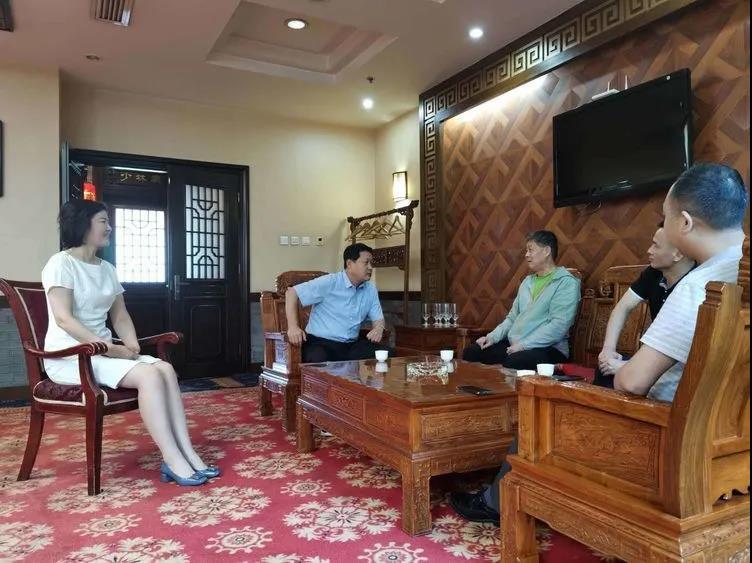 华阴市委书记会见天融集团